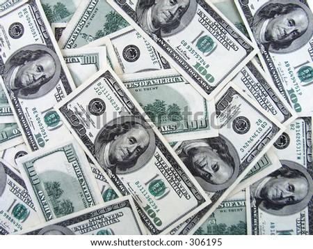 big amount of money - stock photo