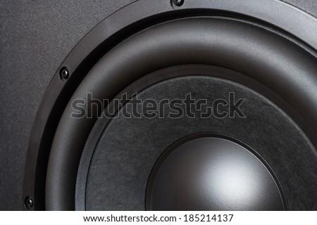 Big bass speaker unit - stock photo
