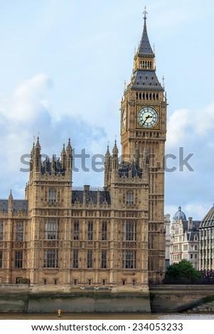 Big Ben and parliament - stock photo