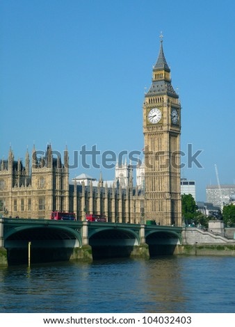 Big Ben and The Houses of Parliament - stock photo