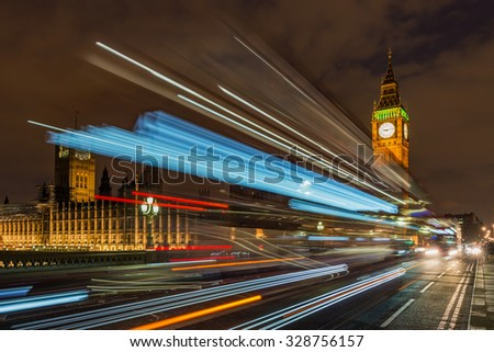 Big Ben and Westminster palace London - stock photo