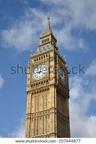 Big Ben Clock in London England - stock photo