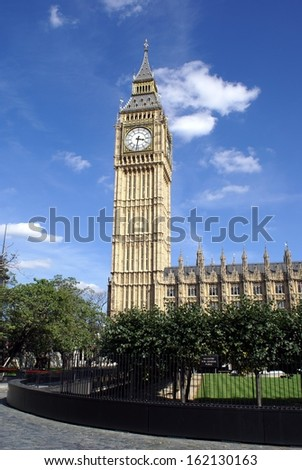 big ben. clock tower - stock photo