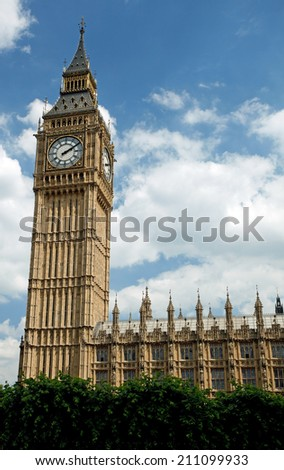 Big ben clock tower, London, England - stock photo