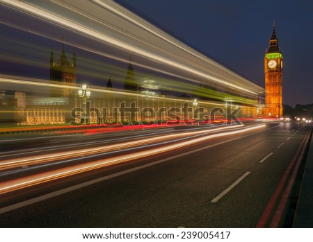 Big Ben Clock Tower, London England UK - stock photo