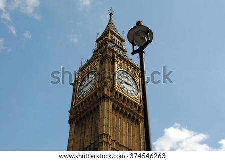 Big Ben from below - stock photo