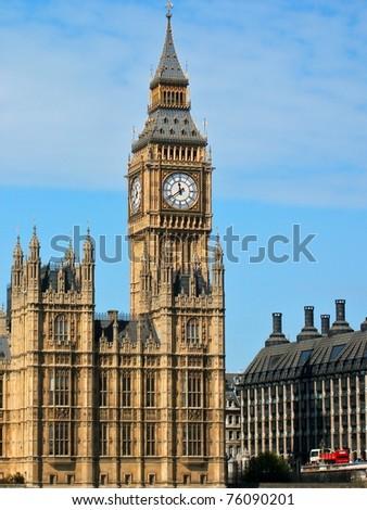 Big Ben & Houses of Parliament ,London - stock photo