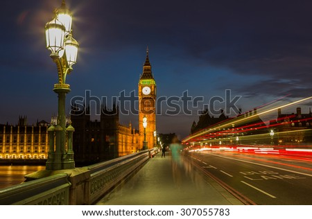 Big Ben in London - stock photo