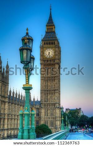 Big Ben in london shot as HDR image - stock photo