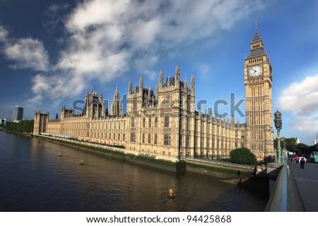 Big Ben in London, UK - stock photo