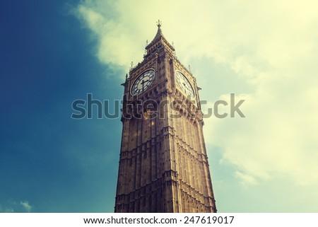 Big Ben in London, United Kingdom - stock photo