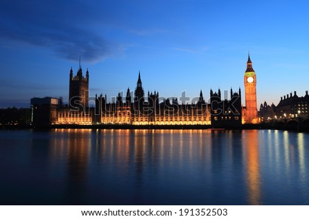 Big Ben of London - stock photo