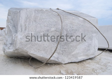 Big block of a marble - stock photo