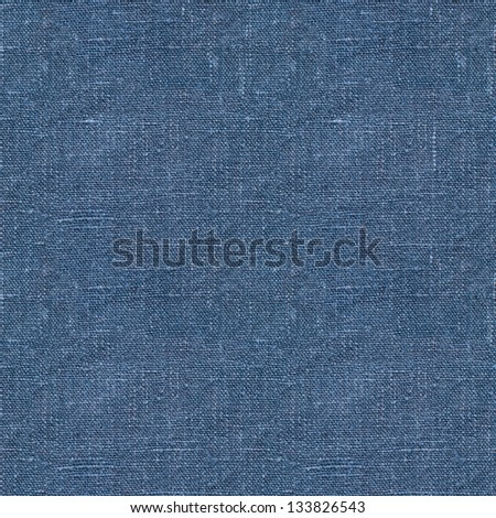 big Blue linen seamless texture in close-up  (texture pattern for continuous replicate) - stock photo