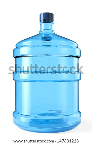 Big bottle of drinking water on a white background - stock photo