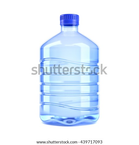 Big bottle of water on a white background 3d rendering - stock photo