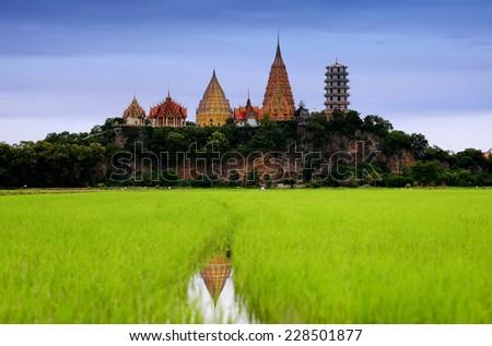Big buddha at kanchanaburi thailand  - stock photo