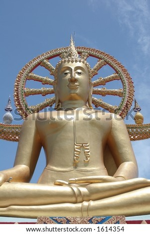 Big Buddha, Ko Samui - also available in portrait - stock photo