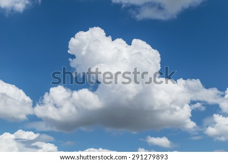Big cloud and sky background - stock photo