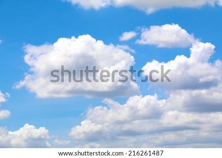 Big cloud in the sky - stock photo