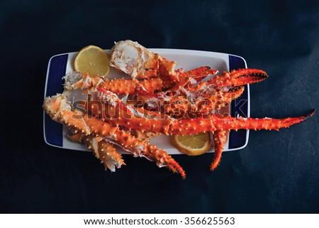 Big crab legs - stock photo