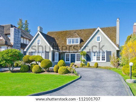 Big custom built luxury  home in the suburbs of Vancouver, Canada - stock photo