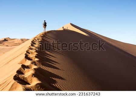 Big Daddy, Sossusvlei, Namib-Naukluft National Park, Namibia - stock photo