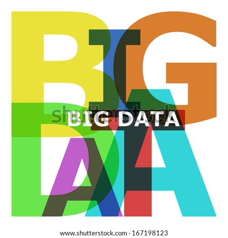 Big Data - abstract color text on white - stock photo