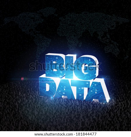BIG DATA concept VII - stock photo