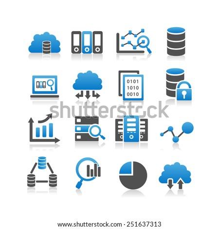 Big Data icon set - Simplicity Series - stock photo