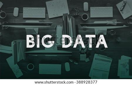 Big Data Information Storage Server Online Technology Concept - stock photo