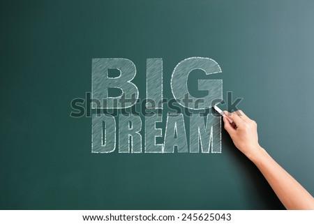 big dram written on blackboard - stock photo