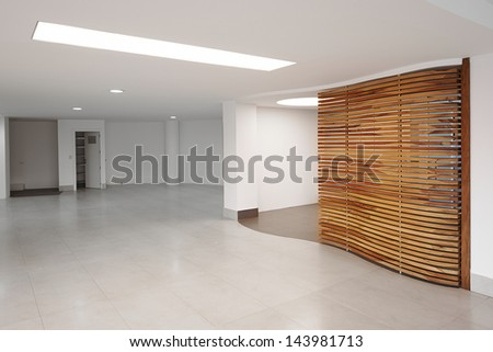 Big empty modern office - stock photo