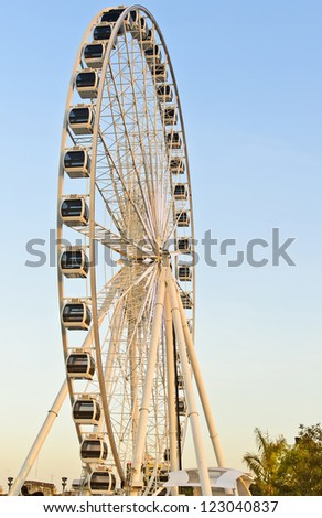 big Ferris wheel at asiatique bangkok thailand - stock photo