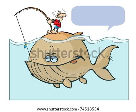 Big fishing with bubble. - stock photo