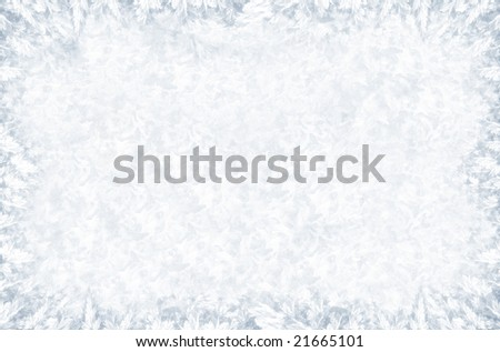 Big frosty pattern on winter window - stock photo
