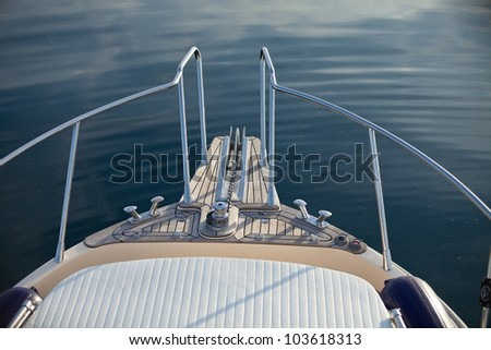 big game fishing boat detail - stock photo