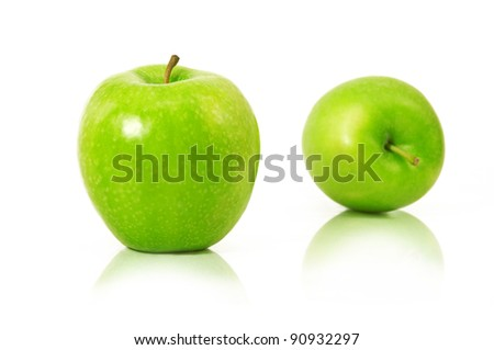big green apples - stock photo