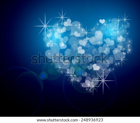 Big heart made up of little hearts. - stock photo