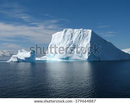 Big ice berg in Antarctica, south pole - stock photo