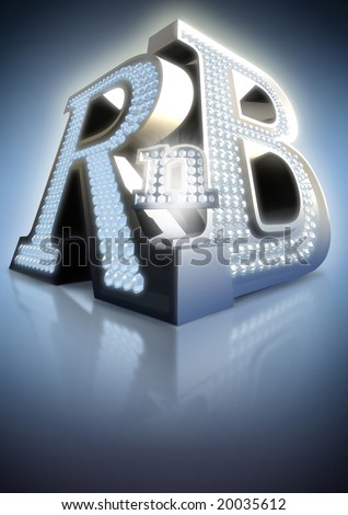 big letters R'n'B - stock photo