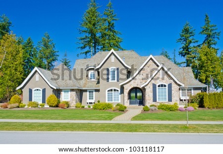 Big luxury home in the suburbs of  Vancouver, Canada. - stock photo