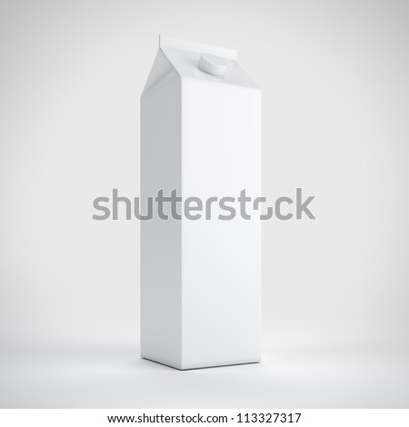 Big milk white carton package - stock photo
