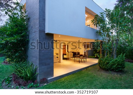 Big modern house - stock photo