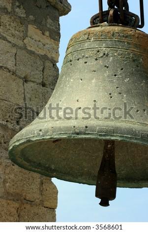 Big old bell in Crimea, Ukraine - stock photo