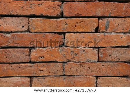 Big Old brick wall texture 1 - stock photo