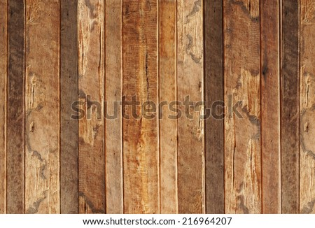 big old wood plank wall / wood wall background - stock photo