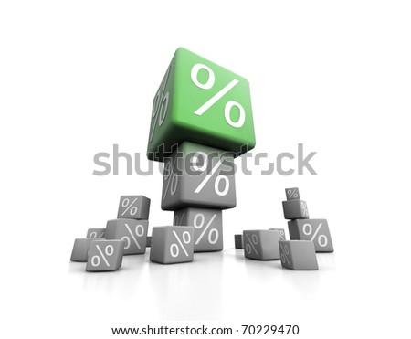 Big percent - stock photo