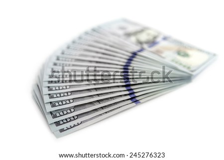 big pile of money. stack of american dollars backgrounds - stock photo