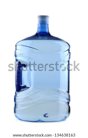 Big plastic bottle for office water cooler - stock photo